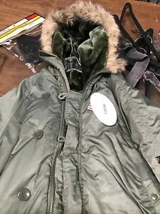 Military US Parka extreme cold weather N-3B Size Large
