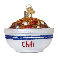 """Bowl of Chili"" (32235)X Old World Christmas Glass Ornament w/OWC Box"