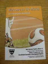 01/04/2012 Mid-Sussex Youth League U11 Cup Final: Cuckfield Cosmos v Perrywood S
