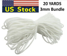 3mm Round Elastic Band Cord Ear Hanging Sewing Crafts DIY 10Yards to 500 yards
