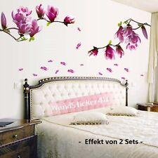 Wandtattoo Magnolie Blumen Magnolia Wandsticker Wohnzimmer Deco Wandaufkleber