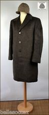 Coat Pure Raw Wool Size 52/54 Brown Rafters Brown