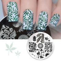 Leaves Maple Leaf Stamping Template Nail Art Image Plates BORN PRETTY BP19