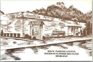 Owensboro, Kentucky Postcard MOONLITE BAR-B-Q INN Restaurant Roadside / Map Back