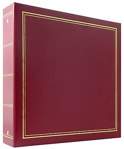 MBI 400 Pocket 3-Ring 4x6 Library Collection Photo Album Red