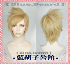 Final Fantasy XV FF15 Prompto Argentum Short Layer Blonde Cosplay Wig Hair Wig