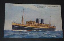 CPA POSTCARD 1930-1939 P. & O. R.M.S. CATHAY PAQUEBOT FAR EAST AND AUSTRALIA