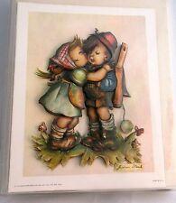 """Scafa-Tornabene Art 3D Lithograph """"Girl Kissing Boy"""" No. 1-516 Vintage 1972"""