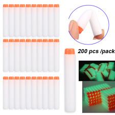 200pcs White Refill Bullet Darts Darts for Nerf N-strike Elite Blasters Toy Gun