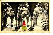 Novelty Thread Lady-Plaza Rufolo-Antica Sala-Ravello-Italy-Vintage Postcard
