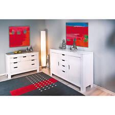 Kommode Anrichte Sideboard weiß Schlafzimmerkommode 2 Türen 4 Schubladen NEU