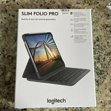 "Logitech - Slim Folio Pro Keyboard Case for Apple® iPad® Pro 11"" (1st, 2nd, a..."