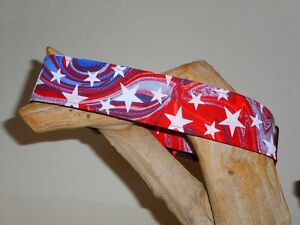 Patriotic Swirl Custom Made Martingale Dog Collar - 2 Inch, 1 1/2 Inch