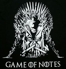 """Game of Notes"" Death Note Light Yagami Thrones Mash Men's XXL Shirt Shirtpunch"