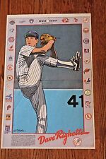 Vintage 1980's Dave Righetti Cartoon Poster New York Daily News N.Y. Yankees