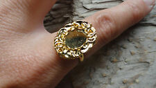 Taffey Ring Hamilton Gold Plated Adjustable 8x10mm (pkg 3) 0275 Lacy Bezel mount
