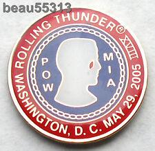 2005 WASHINGTON DC ROLLING THUNDER POW MIA VEST JACKET PIN