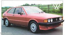 1981 Volkswagen VW SCIROCCO SPEC SHEET / Brochure / Catalog