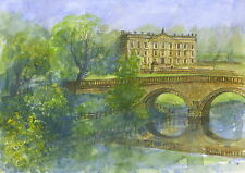 Chatsworth House -  Hand Signed, Titled and Mounted Print with COA