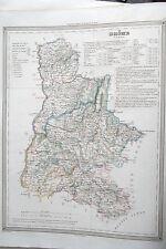 26 Drôme carte gravure Dufour et Duvotenay 1860 (75-7)
