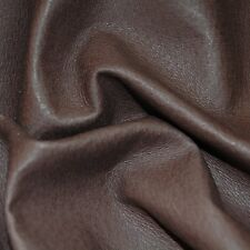 14 sf 1.5 oz.  Brown pig lining natural top grain  leather hide skin Q01 bb