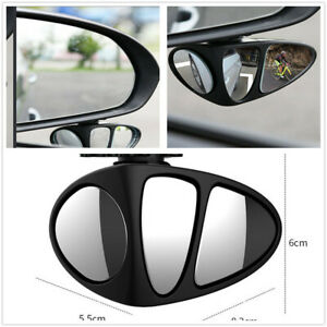 360° Rotation Lens Wide Angle Blind Spot Convex Mirror Fit For Car Main Driving