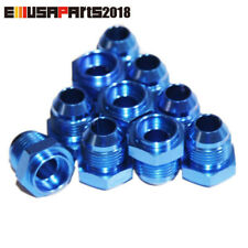 EMUSA 10x -8AN Male to Weld-On Bung 0 Degree Hose End Fitting Adapter Flare Blue