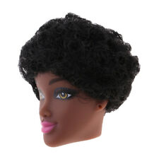 1/6 Africa Black Doll Vinyl Head Body Parts with Short Curly Hair Accessory