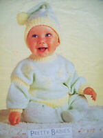Baby Boys Girls Tracksuit Jumper Leggings Hat KNITTING PATTERN DK 16 - 22in 0 -2