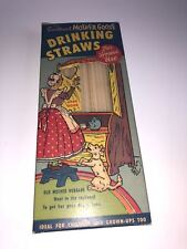 VINTAGE MOTHER GOOSE DRINKING STRAWS IN ORIGINAL BOX VERY NEAT OLD WAX STRAWS