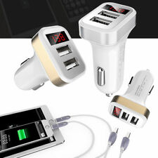 Car Charger Dual USB Fast Charging LED Cell Phone Travel Adapter Cigar Lighter