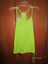 Nordic Track Green Tank Top Sz L Large Polyester Nylon Spandex Bust 38 Length 25