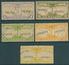 PHILIPPINES 1930's Internal Revenue used stamps