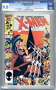 Uncanny X-Men #211 - CGC Graded 9.0 (VF/NM) 1986
