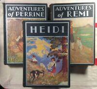 Windermere Classics Lot of 3 Adventures of Perrine Remi Heidi 1930s 1935