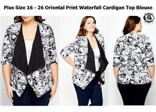 Viscose Casual Floral Plus Size Coats & Jackets for Women