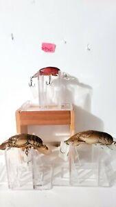 LOT OF 3 REBEL CRAWFISH FISHING LURES