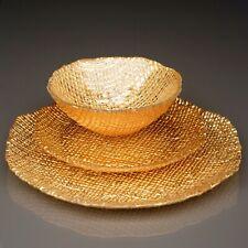 LUMIERE 12 pcs. Gold Dinnerware Set