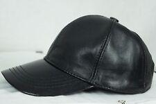 Adjustable 100% REAL GENUINE Lambskin Leather Baseball Cap Hat Visor 5 COLORS
