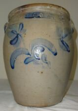 Rare 2 Gal. Stoneware Jar by Weimer Bros. Northumberland Cty. Pa. Floral Cobalt