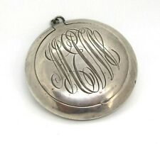 / Pill Box with Mirror 19.4 grams O.B. & H. Sterling Silver Pendant Compact