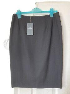 Aquascutum London Black Pencil Skirt Size 12 BNWT RRP £325.00