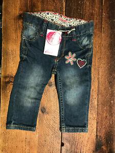SALE cakewalk Jeans Mädchen Baby blue indigo Gr. 74 NEU