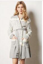 Anthropologie Intarsia Sweater Robe Medium
