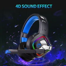 Pro PC Gaming Headset Stereo Headphones Cool RGB LED w/MIC for PS4 Xbox one X US