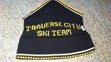 Vintage Traverse City Michigan Ski Team Hat Black Gold Central High School
