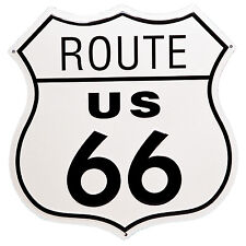 Route 66 Shield Metal Garage Tin Sign Wall Art Plaque Man Cave Garage US Decor