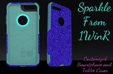 "Otterbox Commuter Series Custom Glitter Case for 4.7"" iPhone 7 Marine Blue/Teal"