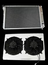 "KKS 3 ROWS ALUMINUM RADIATOR +12"" FAN SHROUD 1977-82 CHEVY CORVETTE 5.7L V8 ALL"