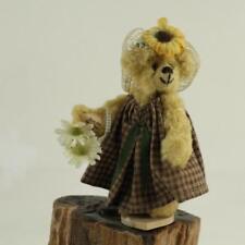 Little Gem Handcrafted Spring Sunflower Mohair Teddy Bear SAMANTHA Flower Basket